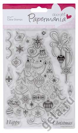 Набор прозрачных штампов Новогодняя елка